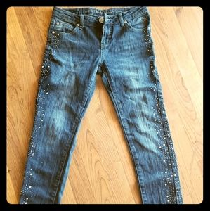 Girls Bedazzled Jeans